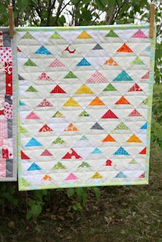 crazy mom quilts:  like the orientation of the triangles, turned on point.