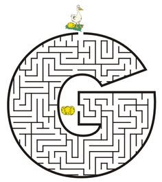 Free Printable Maze of the letter G: All letters capital & lowercase availble. my son loves these