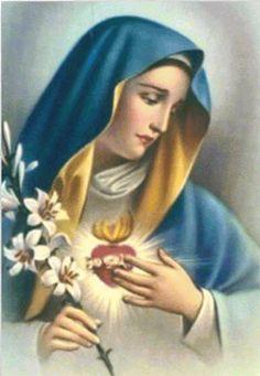 Schema da realizzare a punto croce con l' immagine della Madonna Addolorata. L'immagine mostra l'anteprima del lavoro terminato.  I...