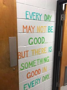 Murals in a middle school bathroom are inspiring girls to be kinder — both to themselves and others. Classroom Quotes, Classroom Door, Future Classroom, School Classroom, Classroom Organization, School Counselor Office, Classroom Wall Decor, Nurse Office, Counseling Office