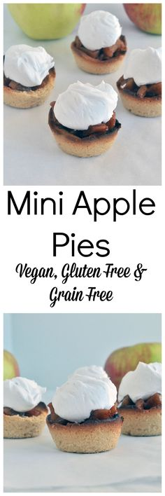 Mini Apple Pies made healthier. Vegan, gluten free, paleo and zero refined sugar. The perfect little bite of yum! Must try healthy apple pie!