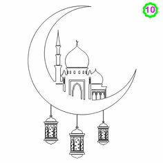 Free colouring activities drawing for kids Eid Crafts, Ramadan Crafts, Ramadan Decorations, Colouring Pages, Free Coloring, Decoraciones Ramadan, Islam For Kids, Islamic Art Calligraphy, Color Activities