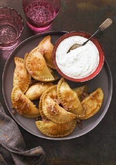 Potato Pierogi with Sour Cream-Chive Sauce