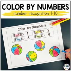 Are you looking for 'color-and-learn' coloring pages? This Summer Color by Code pack is perfect for you! There are color by number and color by letter activities for preschool and kindergarten kids. While coloring, your little ones will practice number recognition, counting 1-10, and letters recognition. Subtraction Activities, Math Games, Letter Activities, Learning Activities, Learning Numbers Preschool, Color By Number Printable, Color By Numbers, Number Recognition, Summer Colors
