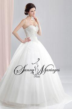 robe de mariee princesse bustier