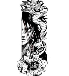 [REPOST] All credits goes to this insanely talented tattoo artist ✌🏻 - Make sure to check out for more designs! 🖤 - - - These are some of my favourite accounts! Also check them out! Tattoo Sketches, Tattoo Drawings, Body Art Tattoos, Tribal Tattoos, Art Sketches, Sleeve Tattoos, Naruto Tattoo, Anime Tattoos, Japanese Tattoo Art