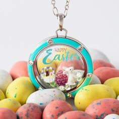 Some-bunny belongs in your Locket this Easter! CLICK TO SEE MORE!!  #origamiowl #easter #bunny #easterbasket #basket #locket #easterbunny #egg #easteregg #jewelry #necklace