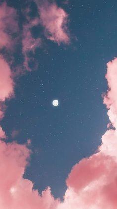 Full moon in pink sky by matialonsor Vollmond im rosa Himmel durch matialonsor mir