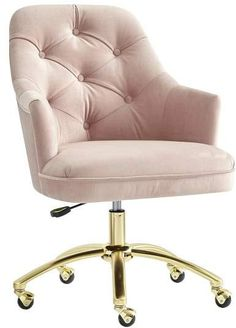 Grey Swivel Chair - Chair Exercises At Work - Peach Velvet Chair - Reupholster Chair Inspiration - Luxury Metal Chair - Bar Chair Ikea Pink Office, Chair Makeover, Bedroom Chair, Swinging Chair, Diy Chair, Cool Chairs, Herman Miller, My New Room, Living Room Chairs