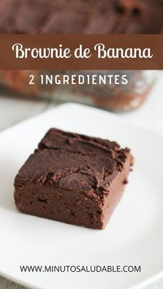 Banana Brownies, Raw Brownies, Healthy Brownies, Black Bean Brownies, Healthy Desserts, Raw Food Recipes, Sweet Recipes, Dessert Recipes, Comida Diy