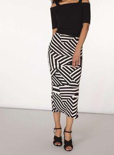 Monochrome Tube Skirt | Dorothy Perkins