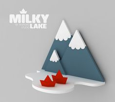 shelves - Milky Lake & Waterfall on Behance