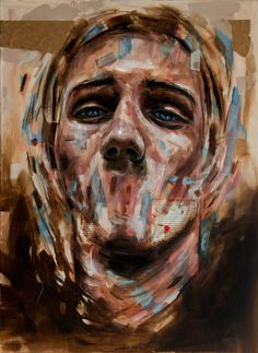 Davide cambria a constant process of obliteration art collar Portraits, Portrait Art, Abstract Portrait, Portrait Paintings, Painting Abstract, Acrylic Paintings, Art Paintings, Davide Cambria, A Level Art Themes