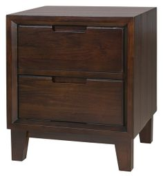 Greyson Nightstand from Urban Barn - great height and functionality, beautiful wooden colour and shaping