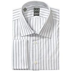 White Stripe Men's Dress Shirts
