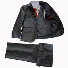 Lito Angels Boys Classic Tuxedo with Tail Formal Suits Wedding Outfit 5 Piece Set 001 011