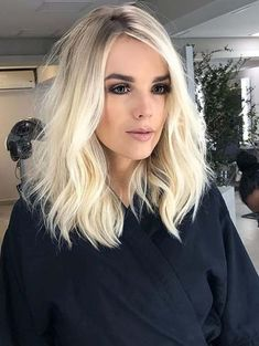 Browse here to visit the perfect styles of short to medium haircuts for 2018. There are alot of best ways that you may use to sport the combination of short and medium hairstyles. In this post you can see we have gathered amazing styles of short to medium hairstyles with platinum blonde color for more cutest looks.