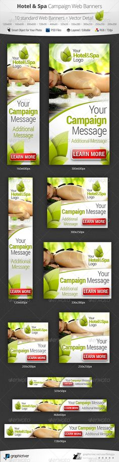 Hotel & Spa Campaign Web Banners Template PSD | Buy and Download: http://graphicriver.net/item/hotel-spa-campaign-web-banners/5258030?WT.ac=category_thumb&WT.z_author=Belegija&ref=ksioks