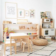 Not sure what to do with a spare room in your home? Transform the space into the ultimate kids playroom! From indoor swings and cool forts to ball pits and reading nooks, check out these 21 kids playroom ideas! Playroom Design, Kids Room Design, Playroom Decor, Playroom Ideas, Playroom Organization, Organizing Books, Wall Decor, Montessori Playroom, Toddler Playroom