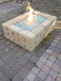 How To Build A Natural Gas Or Propane Outdoor Fire Pit Using Fireglass  Toppers Or Glass. | DIY | Pinterest | Outdoor Fire, Natural And Glass