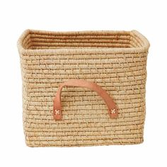 Good-sized Raffia basket with leather handles. Stylish storage for everything from books and magazines, to kindling and candles. Soft Toy Storage, Fabric Storage, Storage Boxes, Storage Baskets, Bag Storage, Kids Storage, Childrens Room Decor, Kids Decor, Cubes