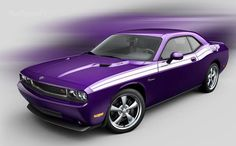Plum Crazy Purple Challenger SRT8, by Dodge
