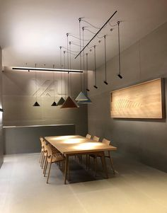 ARI on Move It system - modular pendants powered from Move It track Lighting System, Track Lighting, Pendants, Ceiling Lights, Table, Inspiration, Furniture, Home Decor, Products