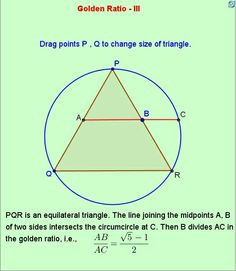 Triangle - golden ratio