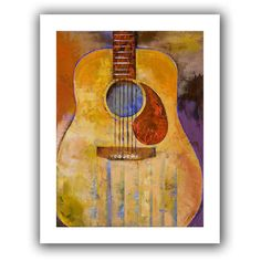 'Acoustic Guitar' by Michael Creese Canvas Poster
