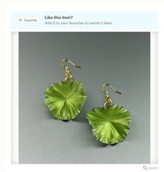 Elegant 2017 Pantone Color of the Year Greenery Earrings Featured on #Etsy #10thAnniversary #Greenery #Style https://www.etsy.com/listing/168868871