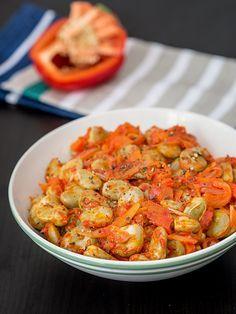 Bób po chorwacku Healthy Dishes, Healthy Recipes, Healthy Food, Polish Recipes, Ratatouille, Vegetable Recipes, Vegan Vegetarian, Shrimp, Bob
