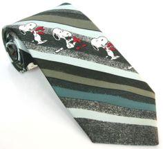 1958 VINTAGE SNOOPY TIE 56L Multi Color Striped Novelty Necktie Collectors Item