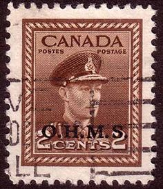 Canada 1949 SG O163 Official Overprint O H M S Fine Used SG O163 Scott O2 Other British Commonwealth Empire and Colonial stamps Here