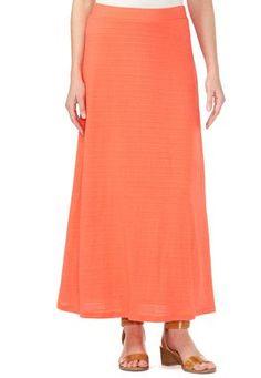 Cato Fashions Textured Slub Maxi Skirt-Plus #CatoFashions