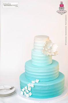 spa blue wedding cake - Google Search