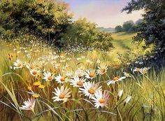Mary Dipnall   (b.1936) — Summer's Bounty (800×587)