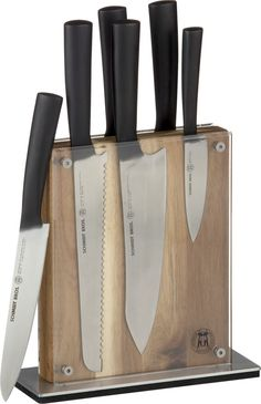 Schmidt Brothers® 7-Piece Carbon6 Knife Block Set  | Crate and Barrel