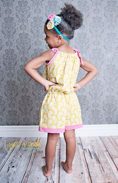 Girls Romper Pattern PDF sewing pattern Toddler by pinkpoodlebows, $6.00