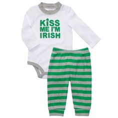 My half gaelic-half garlic baby needs this for his first St. Patty's day