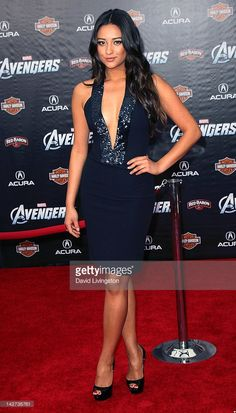Actress Shay Mitchell attends the premiere of Marvel Studios' 'Marvel's The Avengers' at the El Capitan Theatre on April 11, 2012 in Hollywood, California.