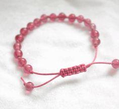 Pink Macrame Style Bracelet (8mm Beads) £5.00