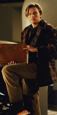 Jack Dawson played by Leonardo DiCaprio in 'Titanic' (1997). Costume Designer: Deborah L. Scott.