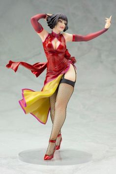 """Tekken Bishoujo Statue - Anna Williams. Coming from Kotobukiya. It's The Tekken Bishoujo Statue - Anna Williams. Kotobukiya returns to Bandai Namco's popular Tekken series of fighting games with the Anna William Bishoujo statue! Anna stands alluringly ready to take on any challenger in her flowing red dress and long stockings. Beautifully sculpted in 1/7 scale, Anna stands over 18 cm (7"""") tall. Based on a character interpretation by master japanese illustrator Shunya Yamashita Anna…"""