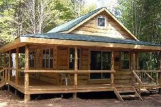 The Wraparound is ideal for those who want a little more than the standard camp.We build this model in one size only - 20 X 28.It includes a full wraparound porch on two sides and a large loft...
