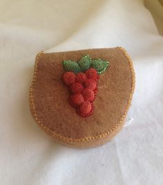 Deer skin pouch with reindeer hair and bead embroidery by Bonnie Bowen