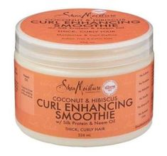 Shea Moisture Organic Coconut & Hibiscus Curl Enhancing Smoothie, is designed to work on thick, curly hair for better defined, more moisturized curls. Thick Curly Hair, Curly Hair Styles, Curly Girl, Long Hair, Hibiscus, Natural Hair Care, Natural Hair Styles, Natural Beauty, Cupuacu