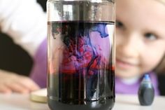 Home made lava lamp Here's what you'll need:  jar with lid  water  food coloring  vegetable oil  table salt