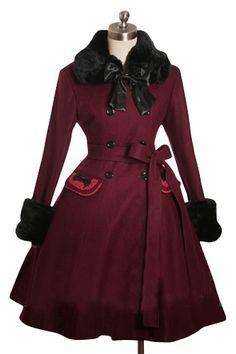Simple designer Youthful Red Classic Lolita Dress Bowknots
