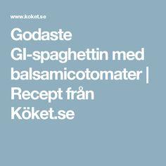 Godaste GI-spaghettin med balsamicotomater | Recept från Köket.se
