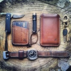 There is a comfort and an immediate personalization to leather that is always amazing.....leather, EDC Stylish wallets for preppers